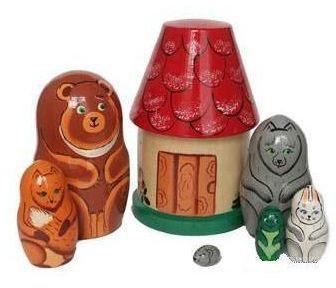 Развивающая игрушка Бэмби матрешка «Теремок» Р-45/750 деревянные игрушки бэмби матрешка красная шапочка 7705