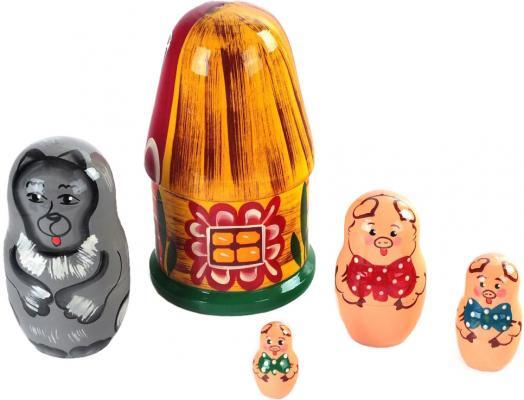 Купить Развивающая игрушка Бэмби матрешка «3 поросенка» Р-45/932, Развивающие игрушки из дерева
