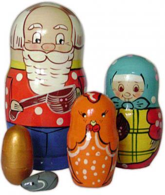 Развивающая игрушка Бэмби матрешка «Курочка Ряба» russia made матрешка сказка 7м курочка ряба