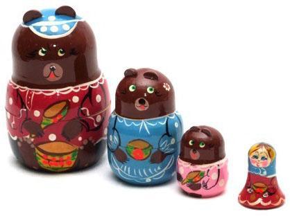 Купить Развивающая игрушка Бэмби матрешка «3 медведя» Р-45/751, Развивающие игрушки из дерева