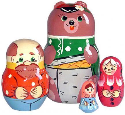 Развивающая игрушка Бэмби матрешка «Маша и медведь» Р-45/745 деревянные игрушки бэмби матрешка красная шапочка 7705