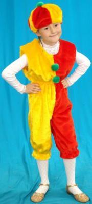Карнавальный костюм Костюмы Клоун (головной убор, полукомбинезон) до 7 лет К-015 в ассортименте