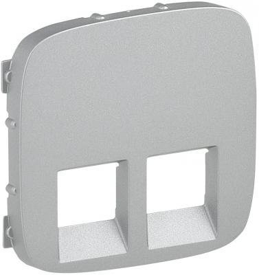 Лицевая панель Legrand Valena Allure для двойных телефонных/информационных розеток алюминий 755427