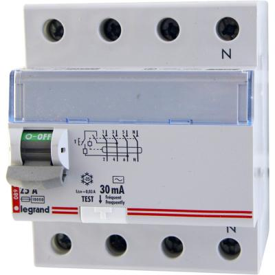 Автоматический выключатель Legrand TX3 30mA тип AC 4П 63А 403010