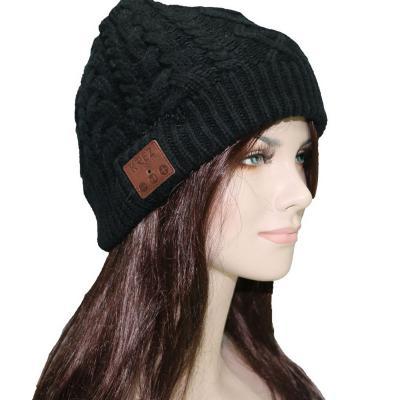 Bluetooth-гарнитура KREZ Talking Hat Шапка со стерео-гарнитурой черный