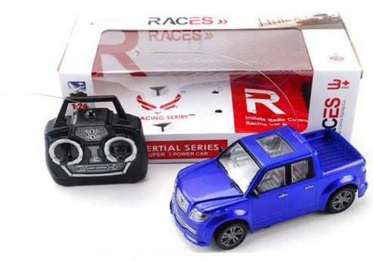 Машинка на радиоуправлении Shantou Gepai Races - Пикап пластик от 3 лет синий 1:24, 4 канала, свет