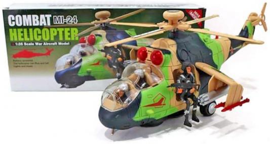 Вертолет Shantou Gepai Combat Mi-24 разноцветный свет, звук, 1:35 Y513164