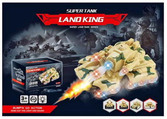 Танк Shantou Gepai Land King желтый 23 см свет, звук Y18896002 игрушка shantou gepai танк 369 32