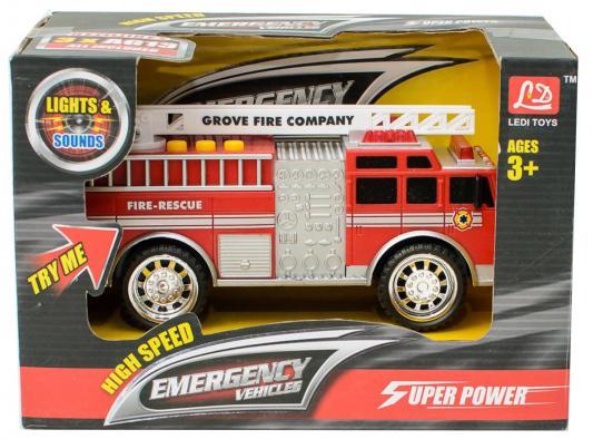 Пожарная машина Shantou Gepai Пожарная 20.5 см красный свет, звук LD2016B