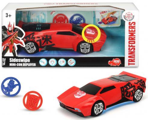 Машина-трансформер Dickie Трансформеры - Sideswipe (свет, звук), 1;6 20 см  3114004 dickie toys 3113001 sideswipe