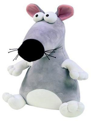 """Антистрессовая игрушка крыска СПИ """"Пучеглаз"""" - Крыса полиэстер полистирол серый 30 см"""