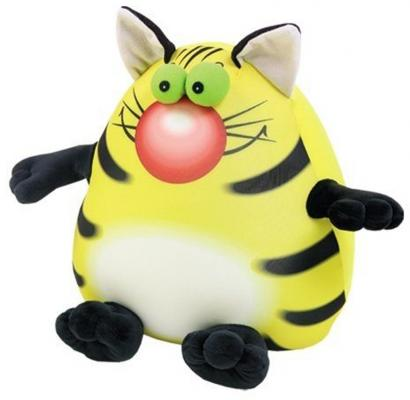 "Антистрессовая игрушка котенок СПИ ""Крэйзи Кот"" 30 см желтый полистирол текстиль  14аси51ив"