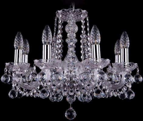 Подвесная люстра Bohemia Ivele 1402/8/160/Ni/Balls bohemia ivele crystal подвесная люстра bohemia ivele 1402 8 195 g balls tube
