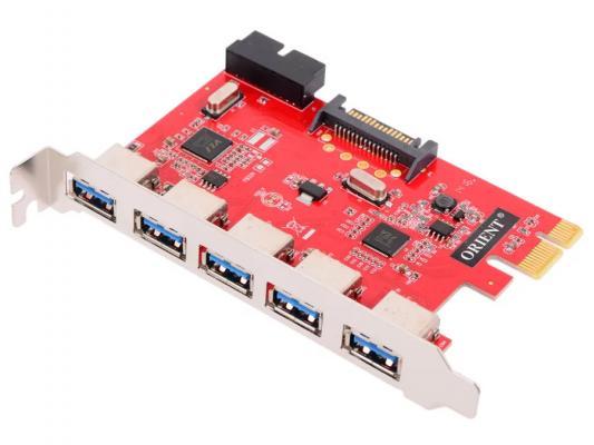 Контроллер PCI-E Orient VA-3U5219PE USB3.0 5ext