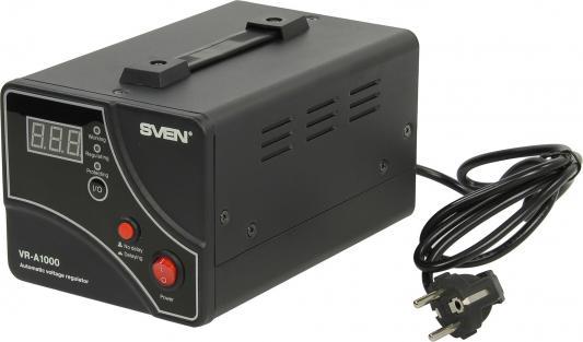 Стабилизатор напряжения Sven VR-A 1000 черный 1 розетка