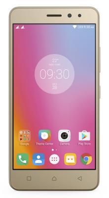 Смартфон Lenovo K6 Power золотистый 5 16 Гб LTE Wi-Fi GPS 3G К33А42 PA5E0012RU смартфон meizu m5 note серебристый 5 5 32 гб lte wi fi gps 3g
