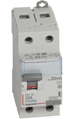 УЗО Legrand DX3 1П+Н C25А 30MA-AC 25A 411504  выключатель дифференциального тока legrand dx3 1п н c16а 30ma ac 411002