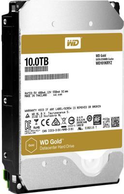 Жесткий диск 3.5 10Tb 7200rpm Western Digital WD Gold SATAIII WD101KRYZ жесткий диск 3 5 8 tb 5400rpm 128mb cache western digital purple sataiii wd80purz