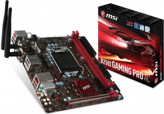 Мат. плата для ПК MSI B250IGAMINGPROAC Socket 1151 B250 2xDDR4 1xPCI-E 16x 4xSATAIII mini-ITX