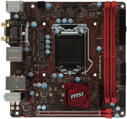 Мат. плата для ПК MSI H270IGAMINGPROAC Socket 1151 H270 2xDDR4 1xPCI-E 16x 4xSATAIII mini-ITX Retail