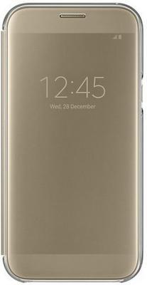 все цены на  Чехол Samsung EF-ZA720CFEGRU для Samsung Galaxy A7 2017 Clear View Cover золотистый  онлайн