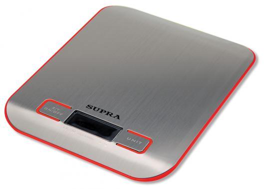 Весы кухонные Supra BSS-4076 красный
