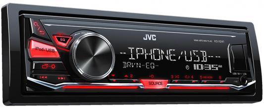 Автомагнитола JVC KD-X241 USB MP3 FM RDS 1DIN 4x50Вт черный