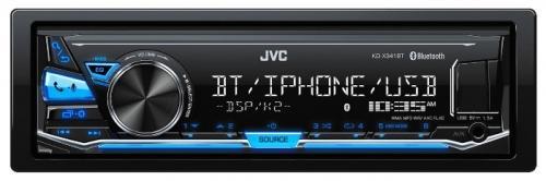 все цены на Автомагнитола JVC KD-X341BT USB MP3 FM RDS 1DIN 4x50Вт черный онлайн