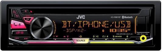 все цены на Автомагнитола JVC KD-R981BT USB MP3 CD FM RDS 1DIN 4x50Вт черный онлайн