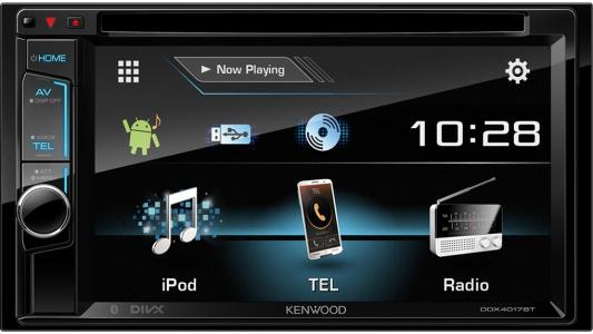 Автомагнитола Kenwood DDX-4017BTR 6.2 USB MP3 DVD CD FM 2DIN 4x40Вт черный gps navigation hd 2din 6 2 inch car stereo dvd player bluetooth ipod mp3 tv camera