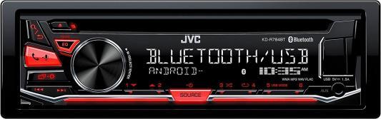 Автомагнитола JVC KD-R784BT USB MP3 CD FM 1DIN 4x50Вт черный автомагнитола kenwood kdc 151ry usb mp3 cd fm 1din 4х50вт черный