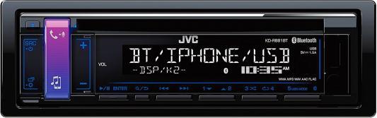 Автомагнитола JVC KD-R881BT USB MP3 CD FM RDS 1DIN 4x50Вт черный автомагнитола kenwood kmm 103ry usb mp3 fm rds 1din 4х50вт черный
