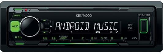 Автомагнитола Kenwood KMM-103GY USB MP3 FM 1DIN 4х50Вт черный автомагнитола kenwood kmm 361sded usb mp3 fm 1din 4х50вт черный