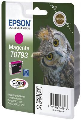 Картридж Epson C13T07934010 для Epson Stylus Photo 1500W пурпурный epson stylus photo 1500w