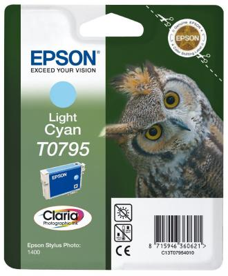 Картридж Epson C13T07954010 для Epson Stylus Photo 1500W голубой картридж epson t009402 для epson st photo 900 1270 1290 color 2 pack