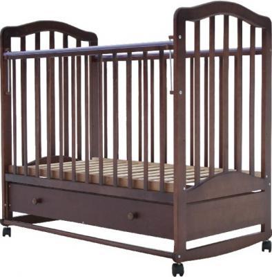 Кроватка-качалка Лаура 6 (с ящиком/шоколад)
