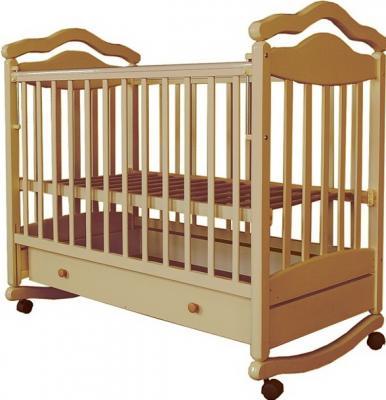 Кроватка-качалка Лаура 7 (с ящиком/бук)
