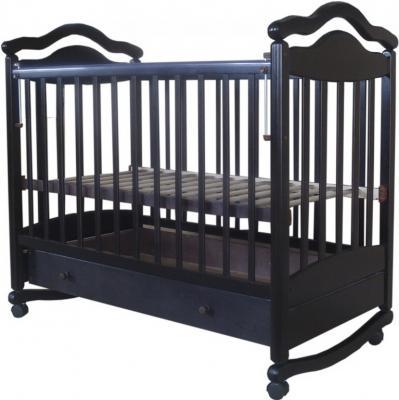 Кроватка-качалка Лаура 7 (с ящиком/махагон)