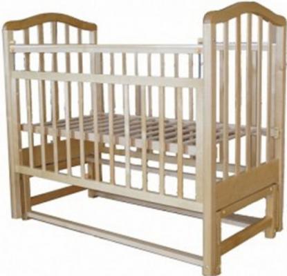 Кроватка с маятником Лаура 3 (без ящика/натуральная береза)