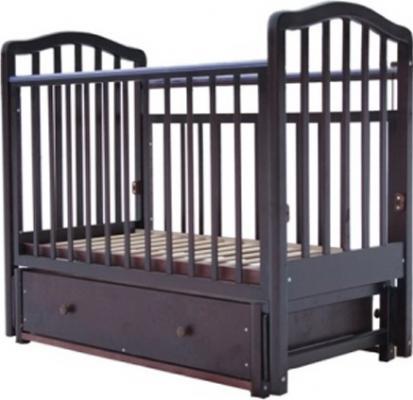 Кроватка с маятником Лаура 2 (с ящиком/махагон)
