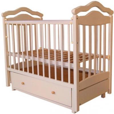 Кроватка с маятником Лаура 8 (с ящиком/бук)