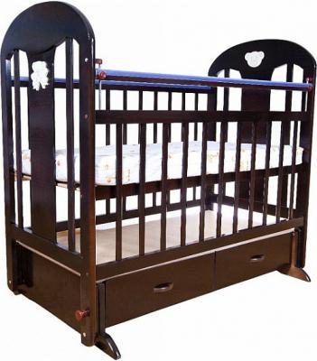 Кроватка с маятником Briciola 5 (с ящиком/темная)