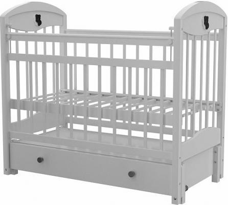Кроватка с маятником Briciola 3 (с ящиком/белая)