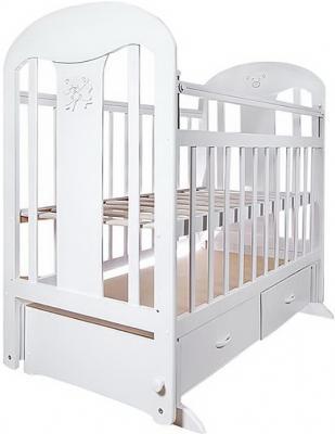 Кроватка с маятником Briciola 5 (с ящиком/белая)