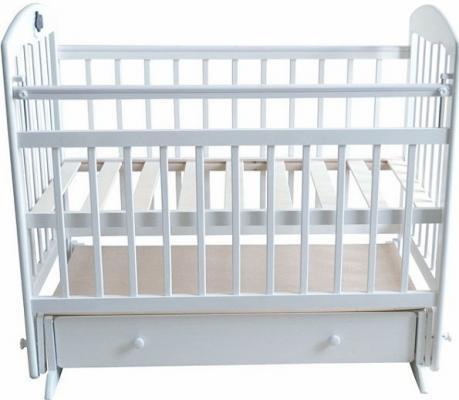 Кроватка с маятником Briciola 11 (с ящиком/белая)