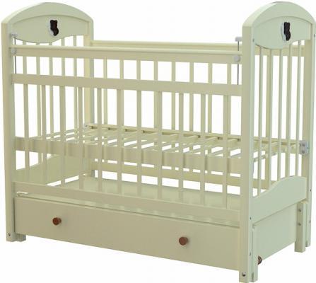 Кроватка с маятником Briciola 3 (с ящиком/слоновая кость)