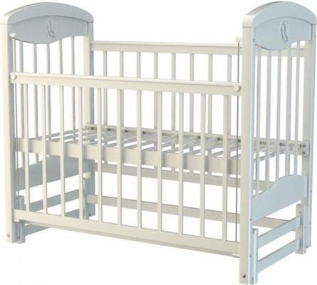 Кроватка с маятником Briciola 2 (без ящика/белая)