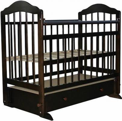Кроватка с маятником Briciola 11 (с ящиком/темная)