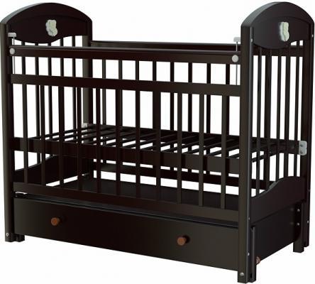 Кроватка с маятником Briciola 3 (с ящиком/темная)
