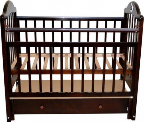 Кроватка с маятником Briciola 10 (с ящиком/темная)
